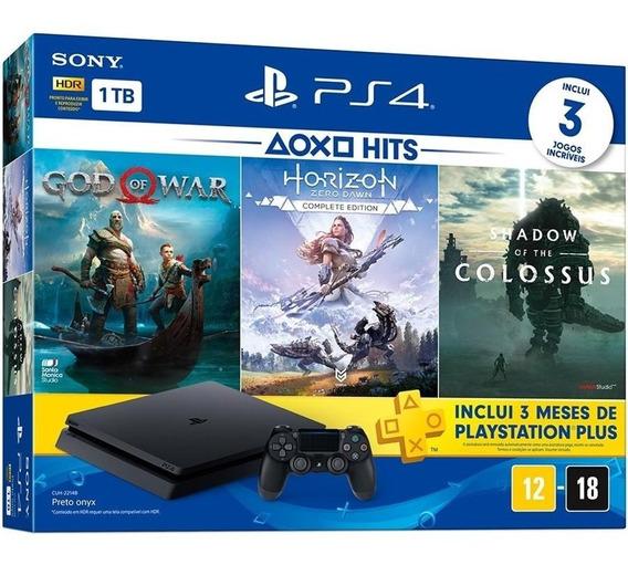 Ps4 Playstation 4 1tb 3 Jogos Psn 3 Meses + Nf + 2 Controle