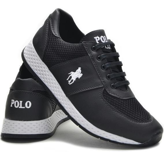 Tenis Masculino Polo Plus Jogging Envio Imediato Original!!