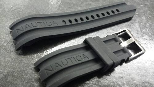 Pulseira Nautica Preta 24mm
