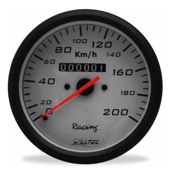 Velocímetro 200km/h C/ Hodômetro 100mm Fusca Buggy Gaiola