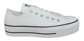 Tênis Converse Chuck Taylor All Star Platform Ox Branco/pret