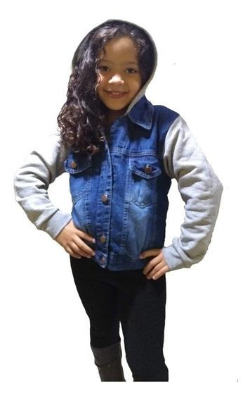 Jaqueta Jeans Infantil Menina Touca Roupas Feminina Infantil
