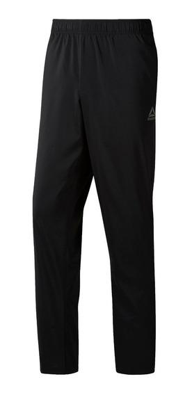 Pantalon Reebok Training Clasico Corte Recto Neg De Hombre