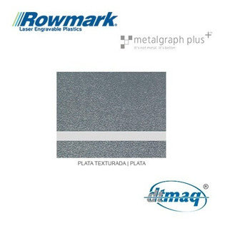 Plástico Bicapa Laserable Rowmark Metalgraph Placa 120x60cm