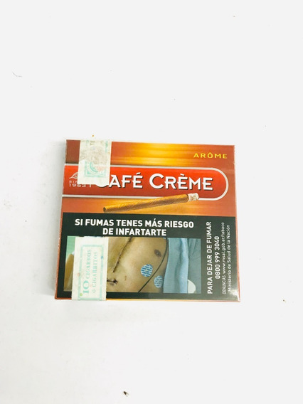 Cafe Creme Aromes Cigarros C/filtro 10u - Candy Local Once