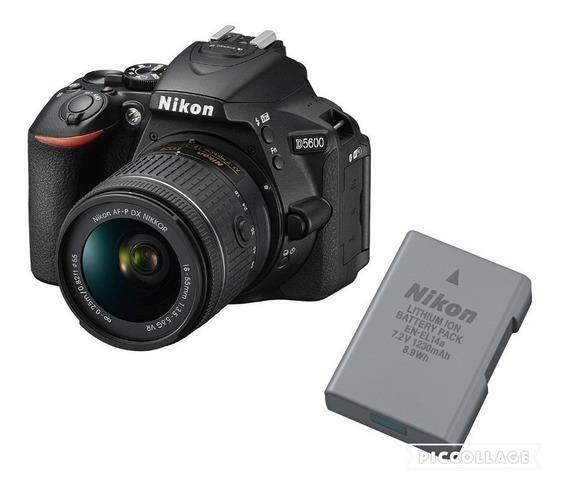 Câmera Nikon D5600 C/ 18-55mm + Bateria Extra