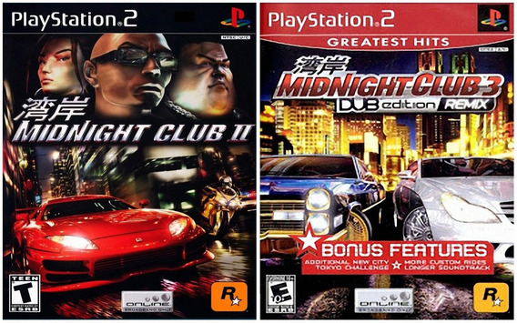 Midnight Club Collection (2 Jogos) Ps2 Desbloqueado Patch