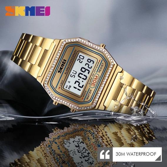 Reloj Dama Skmei 1474 Digital Mujer Acero Inoxidable Caja