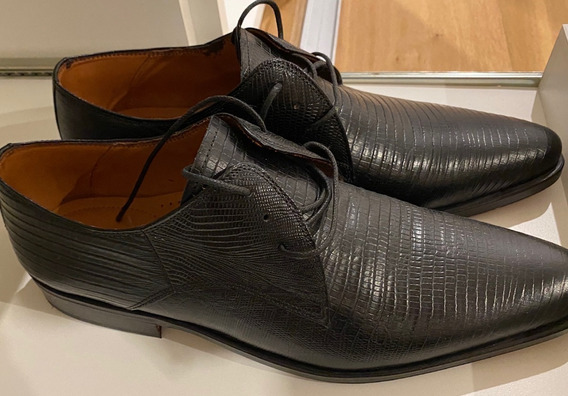 Zapato Cuero Lagarto Hombre Acordonado De Vestir Talle 41