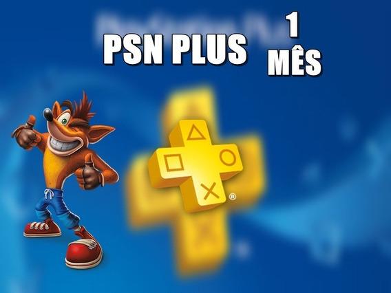 Playstation Psn Plus 1 Mês Envio No Dia