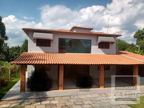 Imagem 1 de 9 de Chácara Com 4 Dormitórios À Venda, 1080 M² Por R$ 650.000 - Residencial Alvorada - Araçoiaba Da Serra/sp - Ch0014