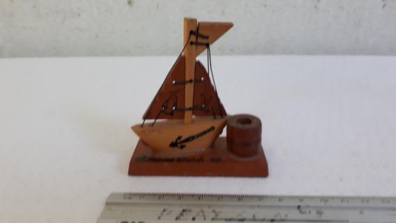 Barco De Madeira Miniatura Lembrança Campina Grande Pb C2708