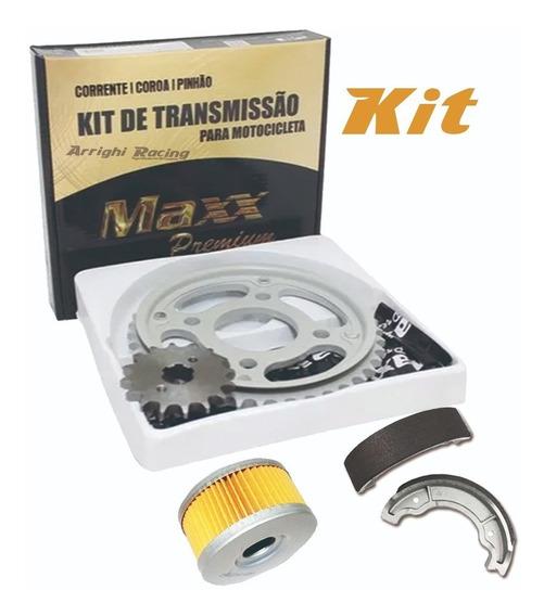 Kit Relação Dafra Apache 150 + Lona Freio Tras + Filtro Oleo