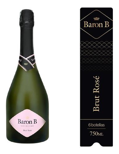 Imagen 1 de 7 de Baron B Brut Rosé Caja 6u X 750ml