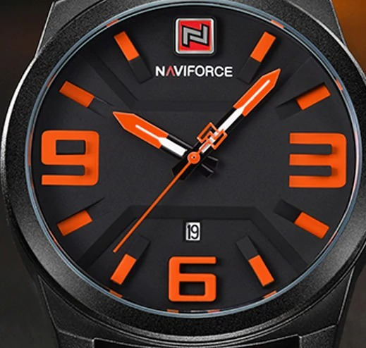 Relogio Masculino Original Naviforce Modelo Nf9098 Executivo