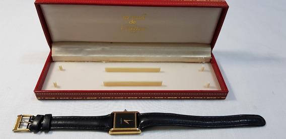 Relógio Cartier Original Mecânico A Corda Folheado A Ouro