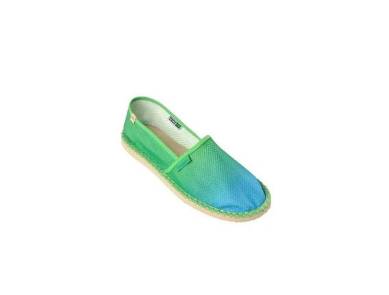Alpargatas Havaianas Origine Azul Verde Tecido Tela Original