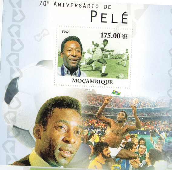 Pele - 70 Aniversario - Hoja De Mozambique