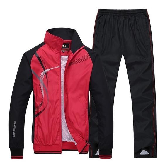 Agasalho Masculino Calça E Jaqueta Forrado Esportivo