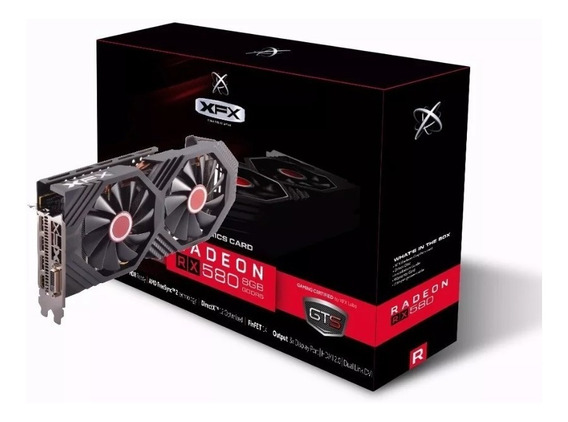 Placa De Vídeo Xfx Rx 580 8gb Oc+ Edition 1386 Rx-580p8d