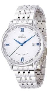 Relojes Automaticos Swiss Made Marvin Con Caja De Acero Inox