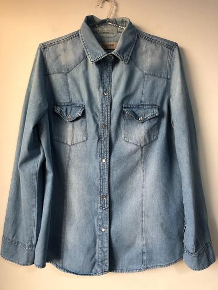 Camisa De Jean De Mujer Marca Ver Talle Xl / 48