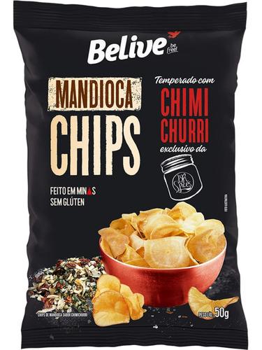Imagem 1 de 4 de Mandioca Chips Belive Sabor Chimichurri 50g