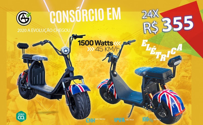 Moto Scooter Elétrica 1500 Watts