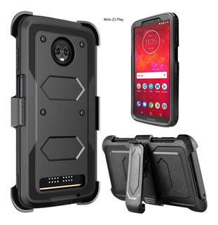 Case Moto Z3 Play E4 Plus Protector 360 Carcasa Usa + Gancho