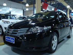 Honda City 1.5 Flex 2012 Preto (completo+ Couro+ Multimidea)