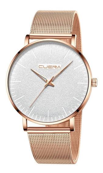 Relógio Masculino Quartzo Luxo Pulseira De Aço