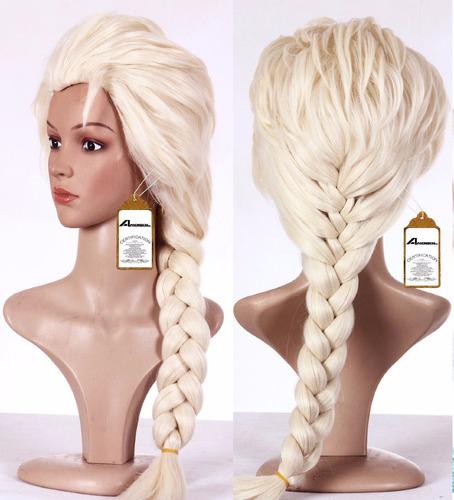 Peluca De Elsa De Frozen Para Adultos Damas Envio Gratis 1