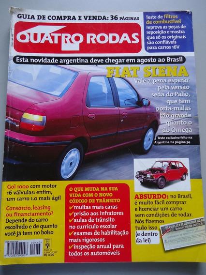 Quatro Rodas 443 Siena Bmw 328i Volvo V40 Gol Peugeot 504