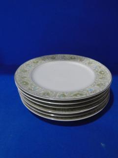 Jogo De 6 Pratos Steatita 25cm Porcelana