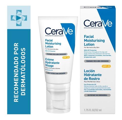Imagen 1 de 12 de Locion Facial Hidratante Con Fps 25 Piel Mixta Cerave 52ml