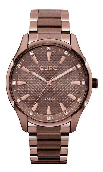 Relogio Euro Feminino Euy121e6dj/4m Chocolate Marrom