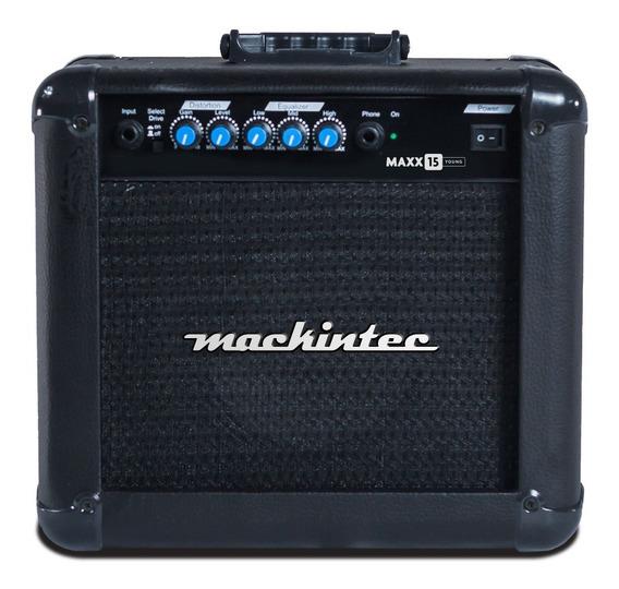Cubo Caixa Ativo Para Guitarra Mackintec Maxx 15 15 W Rms