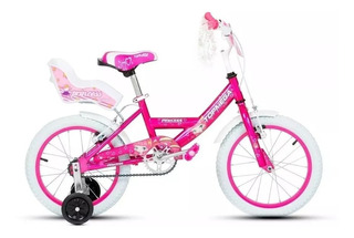 Bicicleta Nena Niña Cross Top Mega Princes R16 Bmx + Luz Led