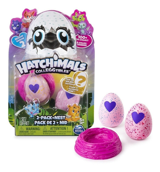 Hatchimals Colleggtibles Bilster 2 Huevos + Nido