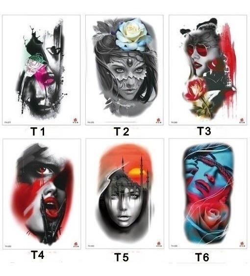 Tatuagem Temporária Tattoo Realista - Carnaval- Tam - 21x14