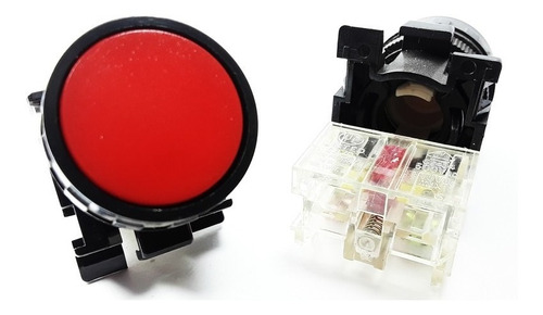 Pulsador Plastico Rojo 1n/c 22mm Ca-p2 Ref: Pul11