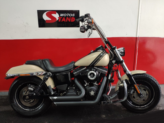 Harley Davidson Dyna Fat Bob Fxdf Abs 2014 Bege