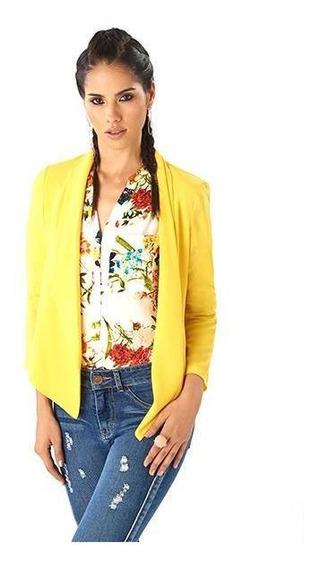 Saco Dama Casual Amarillo Mundo Terra 014517
