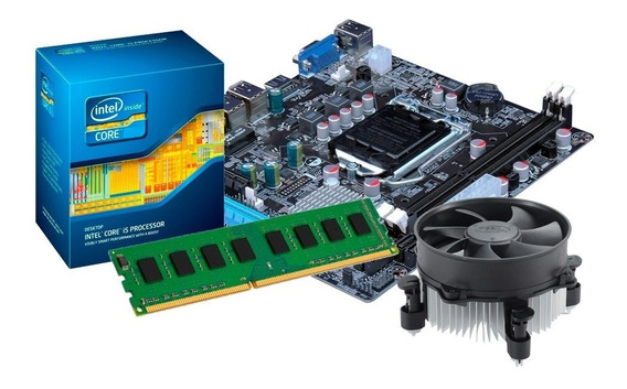Kit Processador I3 2100 + Placa Mãe H61 + 4gb Ddr3 + Nfe