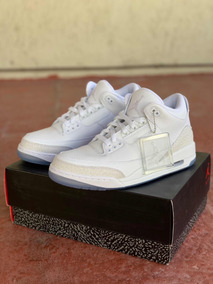 Air Jordan Retro 3 Triple White, 7.5 Mx