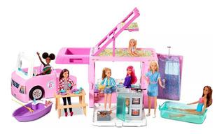Barbie Pop-up Camper De Lujo Vehiculo Autocaravana Mattel.