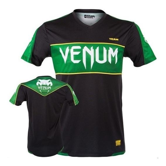 Camiseta Dry Tech Venum Competitor Preto Verde
