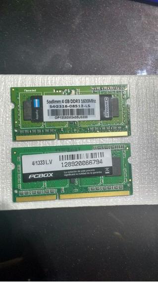 Memoria Ram 8gb (en Dos Slots De 4gb) Notebook