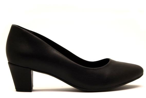 Zapatos Clasicos Mujer Ramarim Muy Comodo Sintetico Negro