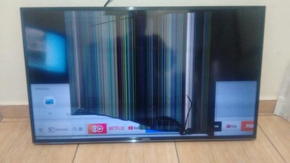 Tv Samsung Smart 4 K 40 Polegadas Com Display Trincado